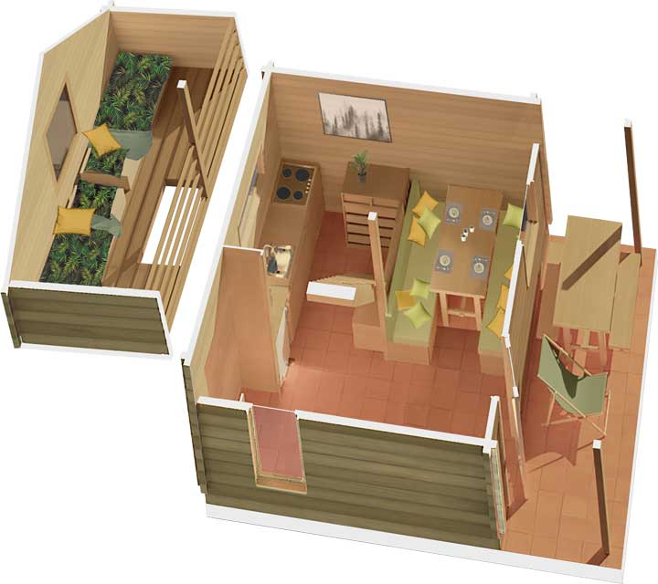 Plan Chalet Simple