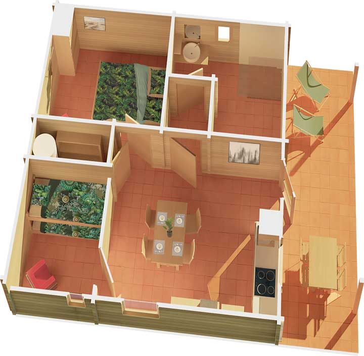 Plan Chalet Sympathique (barrierefrei)