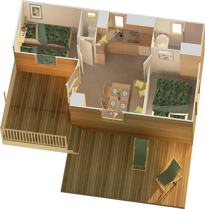 Plan 4p Mobile home Agreable